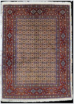 ムード絨毯9063B・ヘラーティ反復文様絨毯198x142