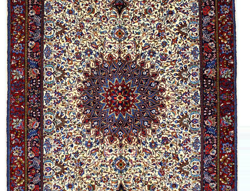 数寄の絨毯33232/ギアサバード・メダリオン文様絨毯