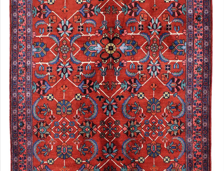 数寄の絨毯33236/ハマダーン(ハマダン)連花葉文様絨毯