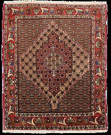 9001|サナンダージュ(センネ)幾何メダリオン文様絨毯