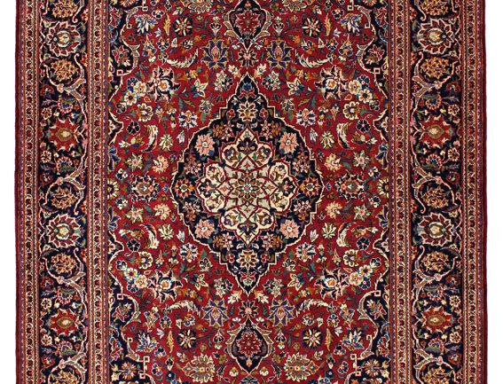 数寄の絨毯33243/カーシャーン(カシャーン) メダリオン・コーナー文様絨毯