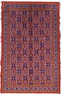 9091|ギアサバード・連花葉文様絨毯