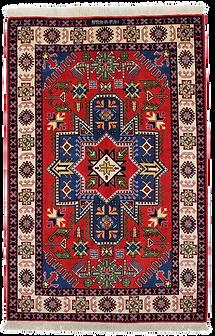 9067|ケルマーンシャー幾何メダリオン文様絨毯