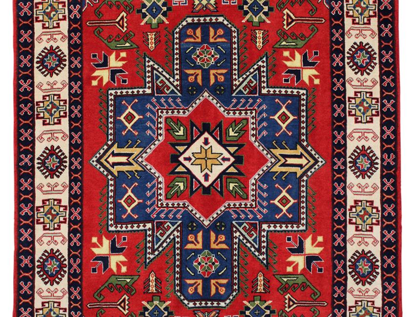 33188ケルマーンシャー(ケルマンシャー)幾何メダリオン文様絨毯/170×108㎝
