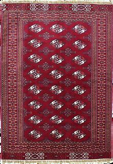 9011|トルクメン幾何連続文絨毯