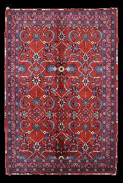 9086|ハマダーン(ハマダン)連花葉文様絨毯