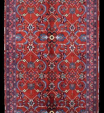 数寄の絨毯33235/ハマダーン(ハマダン)連花葉文様絨毯