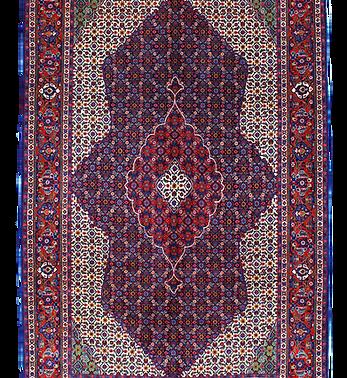 数寄の絨毯33229/ギアサバード・メダリオンコーナー文様絨毯