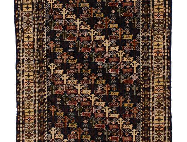 2324バルーチ幾何連続文絨毯/243x81㎝