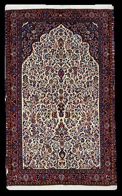 9069|ギアサバード・メヘラーブ文様絨毯