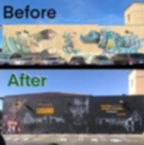 Before & After Kobe Mural
