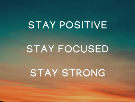 Start Strong, Finish Strong!