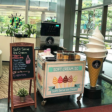 Soft serve give outs during IBM's Pre CN