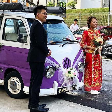 01122018 #weddingcar #purple #softcreams