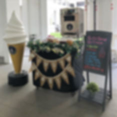 Soft serve ice cream live station for As