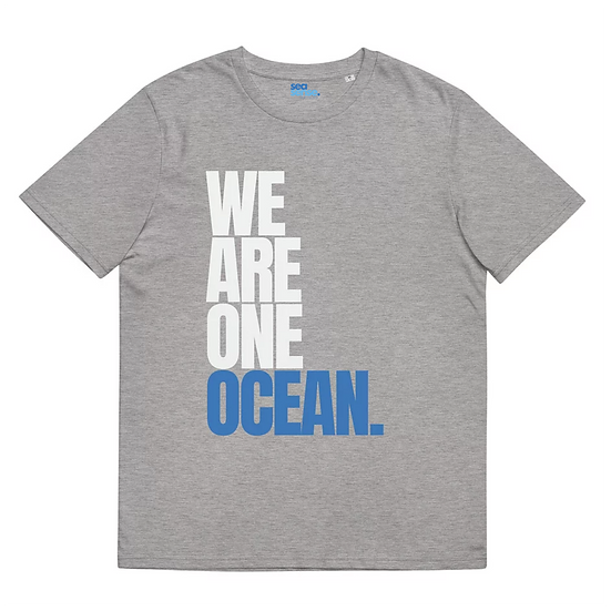 WE ARE ONE OCEAN UNISEX  T-SHIRT IN STONEFISH GREY