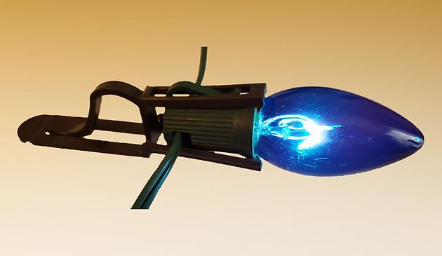 Christmas light clip