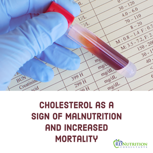 Cholesterol as a sign of Malnutrition