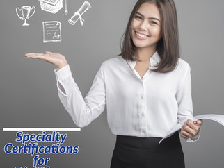 Specialty Certifications for Dietitians