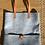 Thumbnail: Cabas alma feutre gris avec pochette amovible