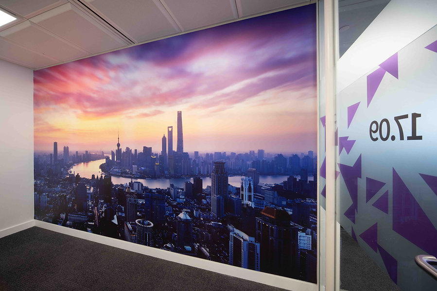 Printed Wallpaper & Frosted Vinyl