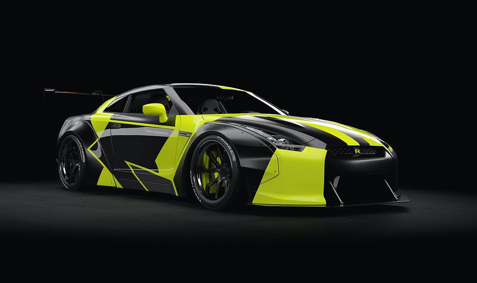 Nissan GT-R EP1 Balck & Yellow