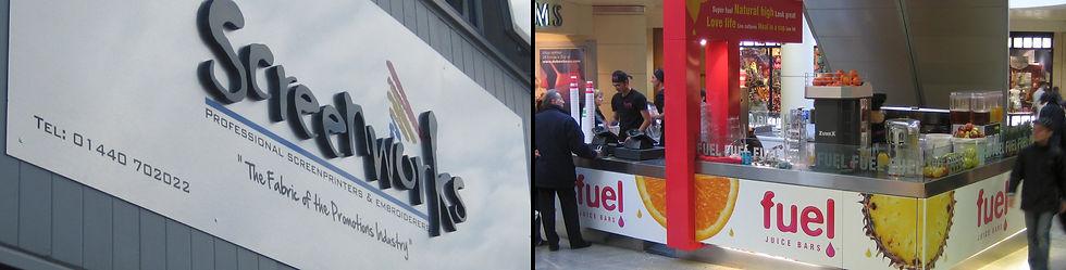 Screenworks Building Sign & Fuel Shop Graphics