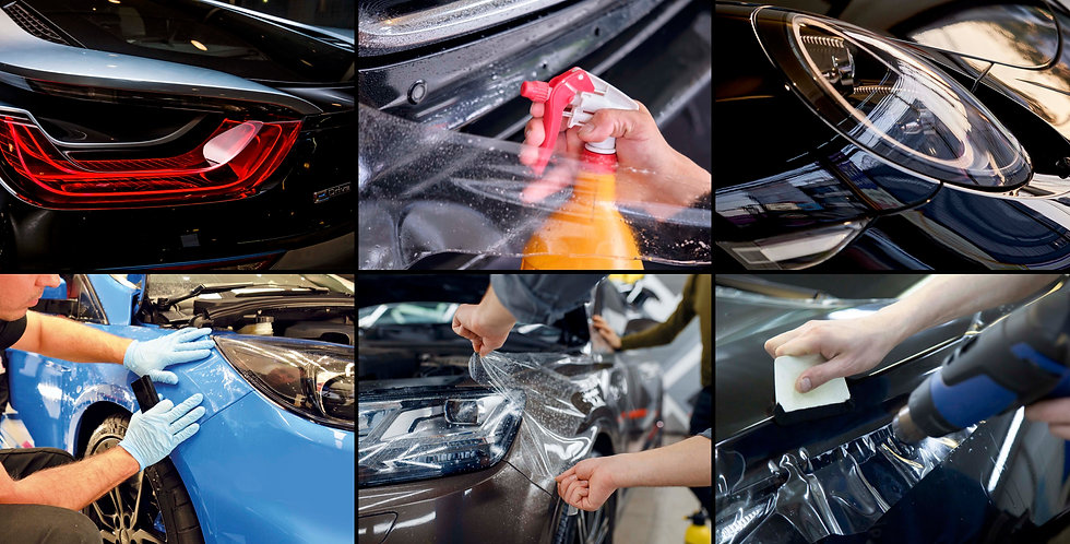 Paint Protection Images Montage