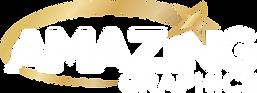 Amazing Graphics Logo White & Gold