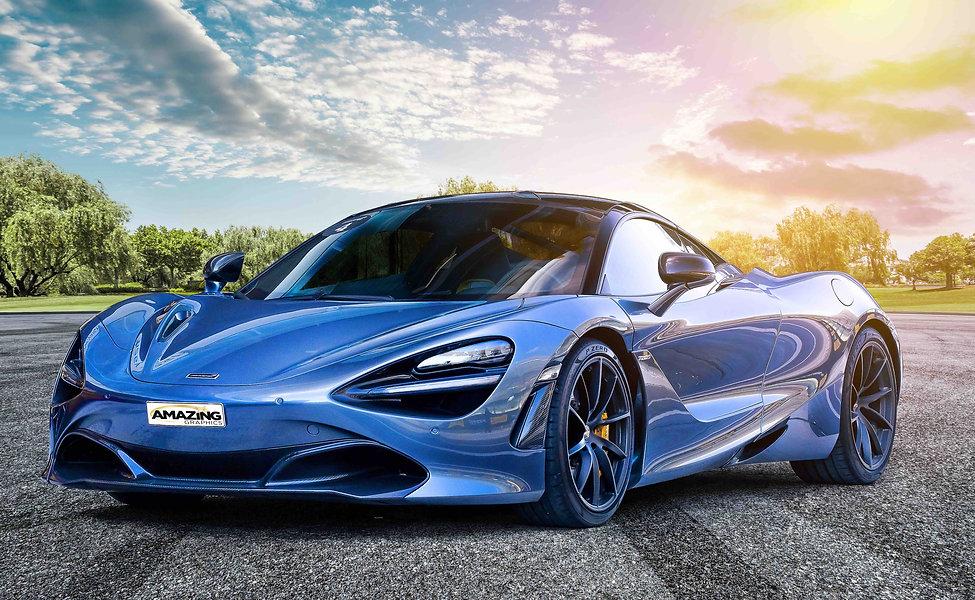 Blue McLaren 720s