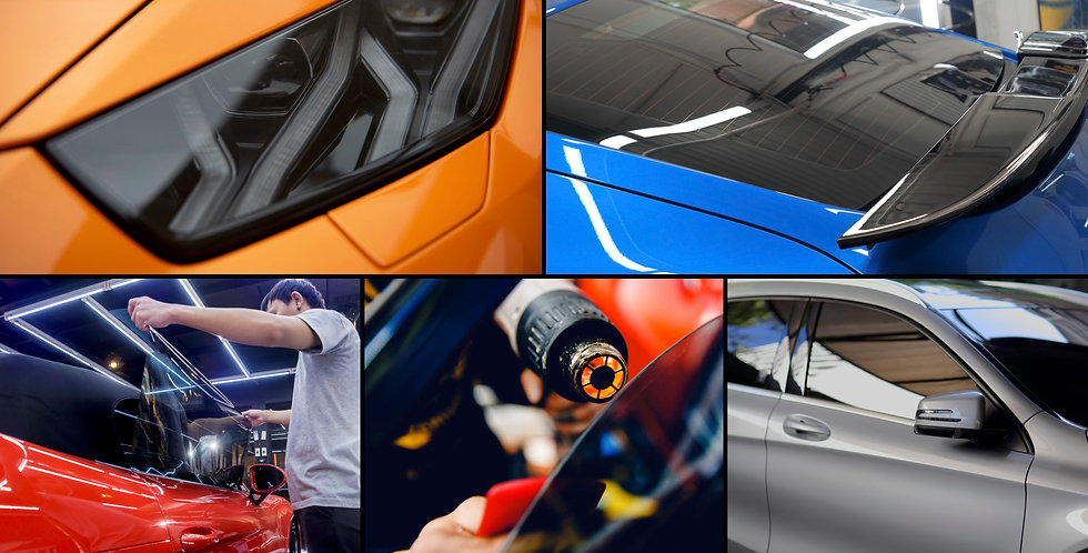 Montage of Vehicle Tinting Images