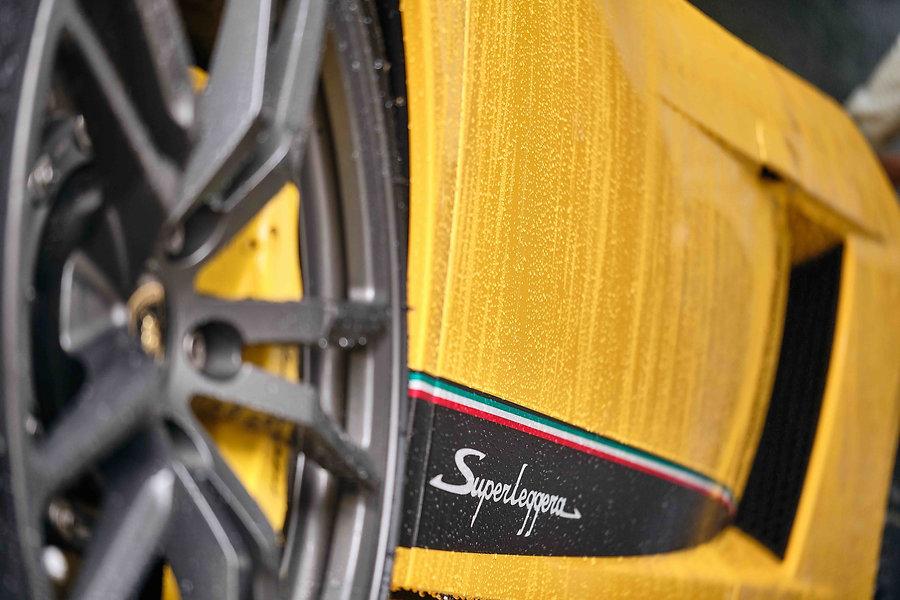 Yellow Lamborghini With Water Droplets