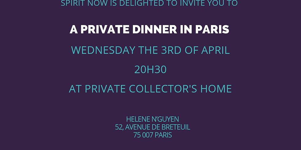 Private dinner in Paris