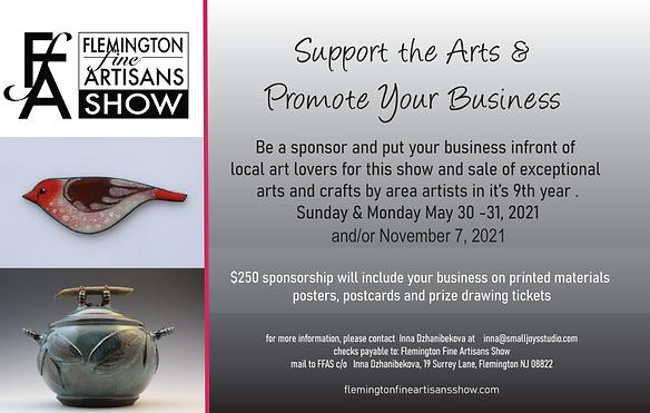 2021 Flemington Fine Artisans Show spons