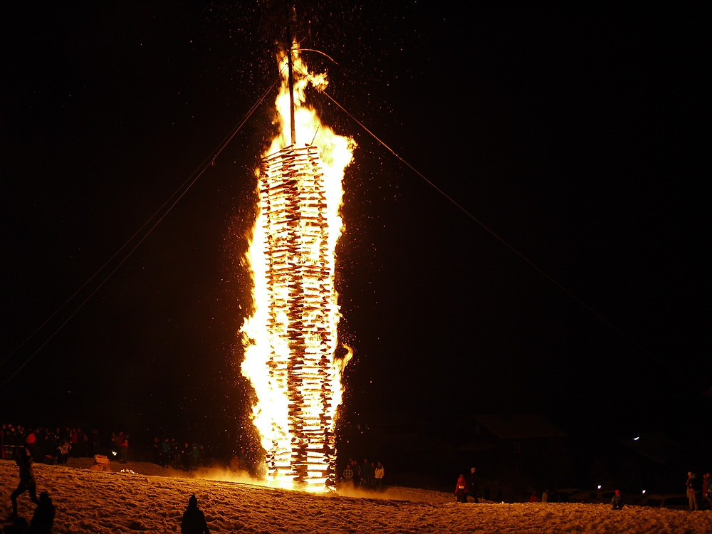 Funkensonntag - Φωτιές στο Montafon.
