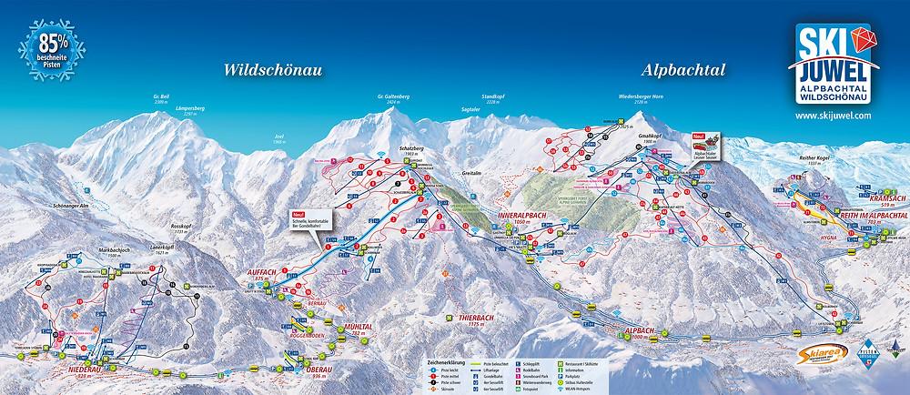 χιονοδρομικό © Ski Juwel Alpbachtal Wildschönau