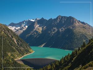 Φράγμα και λίμνη Schlegeis