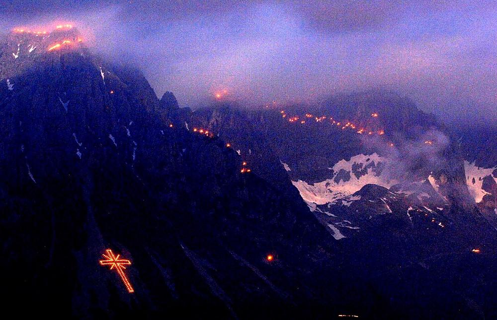 Φωτιές στα βουνά ©TVB Wilder Kaiser