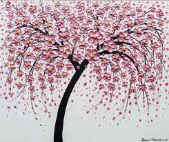 Metalic Pink Cherry Blossom Tree