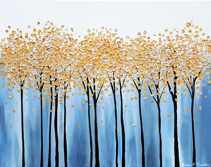 """Golden Forest 16x20"""" Oil on Canvas"""