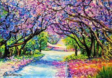Path of Jacaranda Trees 1