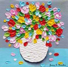 Happy Flowers on a Rainy Day