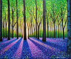 A Morning Walk Through Bluebells 20x24