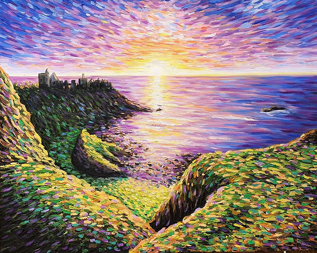 Cliffside Sunset jessica hamilton art