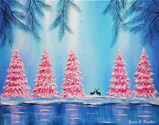 A Magical Christmas Forest