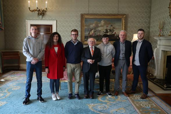 ESC participants meet Michael D. Higgins
