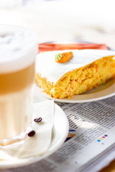 Kaffee- und Kuchenangebot