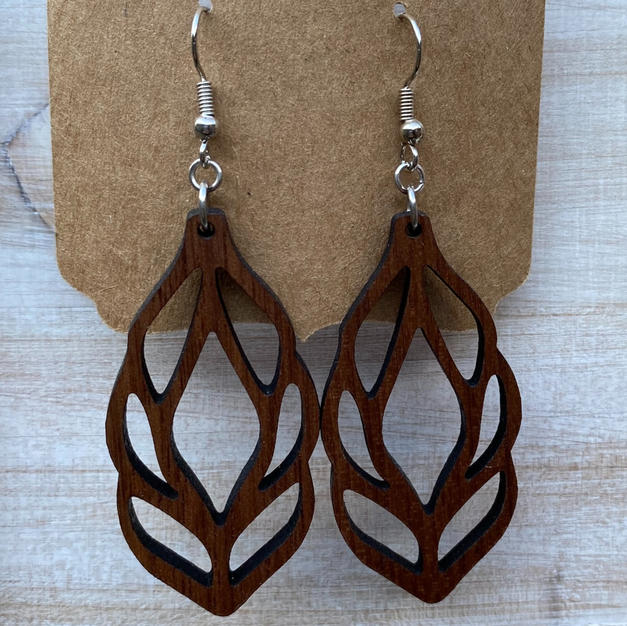 Willow Leave Earrings - Large