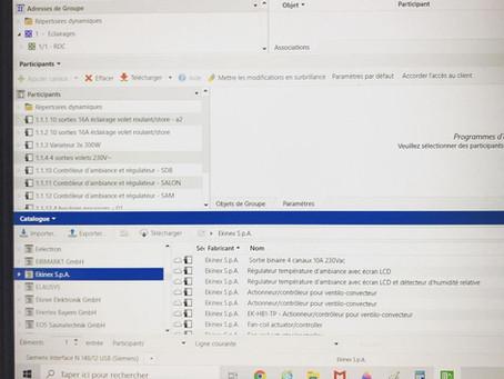 Programmation installation KNX via ETS