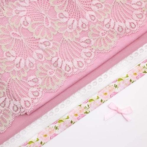 Pink Rose Mesh Undies Kit